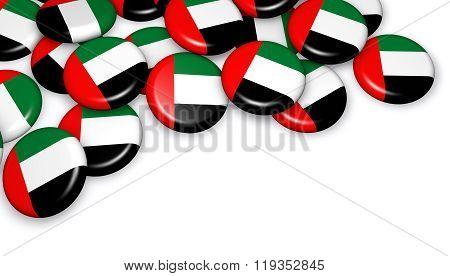 United Arab Emirates Flag On Badges