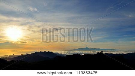 Vibrant sunset, Canary islands