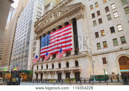 New York Stock Exchange Building In New York