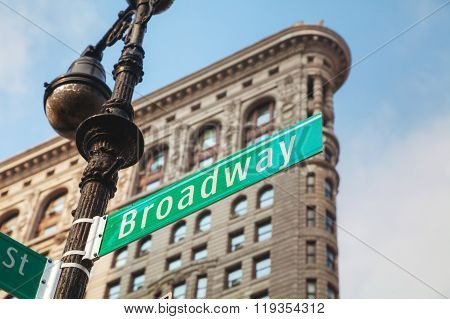 Broadway Sign In New York City, Usa