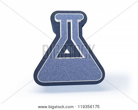 Chemistry Shopping Icon In Blueish Denim Look