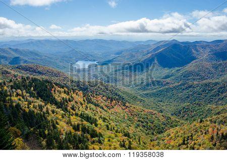 Mountain Lake And Fall Leaves
