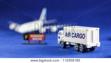 Air Cargo Heading Airplane