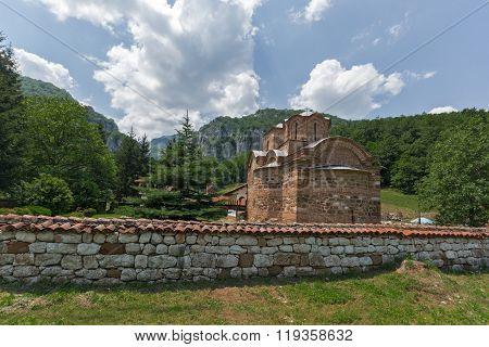 Amazing panorama to Poganovo Monastery of St. John the Theologian and Erma River Gorge