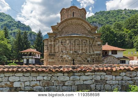 Church and Old Buildings in Poganovo Monastery of St. John the Theologian and Erma River Gorge