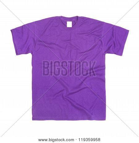 Purple T-shirt Isolated On White Background