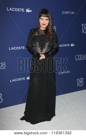 LOS ANGELES - FEB 23:  Hana Mae Lee at the 18th Costume Designers Guild Awards at the Beverly Hilton Hotel on February 23, 2016 in Beverly Hills, CA