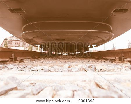 A Train Seen From Below Vintage