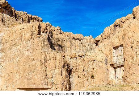 Ancient tombs of Achaemenid kings at Naqsh-e Rustam in Iran