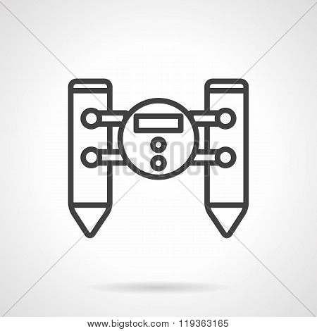 Water robot black line design vector icon