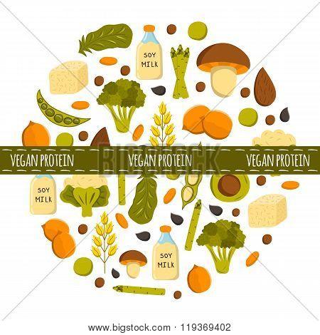 Vegan protein background