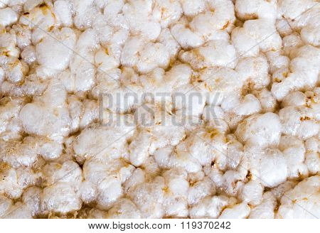 Puffed Rice Textured Background