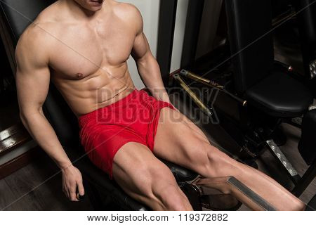 Workout Leg Exercises Close Up