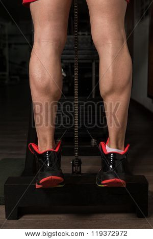 Training Strong Legs Calf Close-up