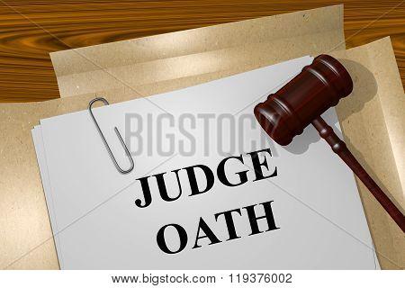 Judge Oath Concept