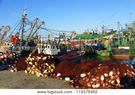 Fishing boats in Essaouira, Morocco, Africa