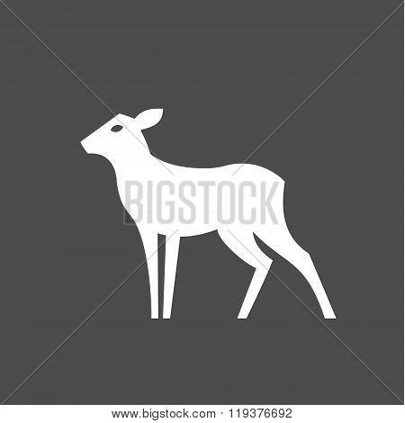 Deer feminine without horns Monochrome illustration of logo for the brand modern minimalist design,