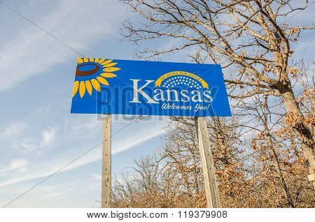 Kansas Welcome Sign