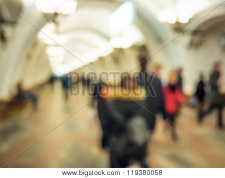 City commuters in subway.