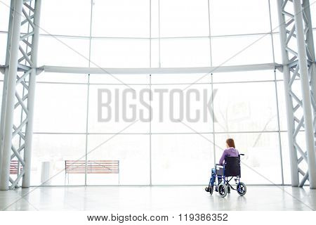 Disable girl by the window