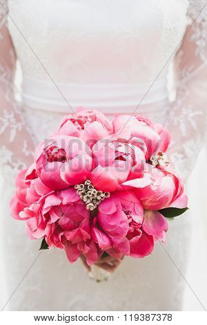 Beautiful Bouquet Of Peony Flowers
