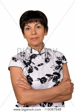 Portrait Of A Senior Woman Isolated