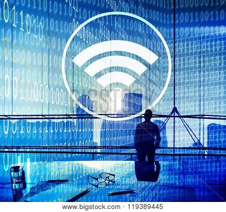 Wifi Hotspot Internet Network Signal Wireless Digital Concept