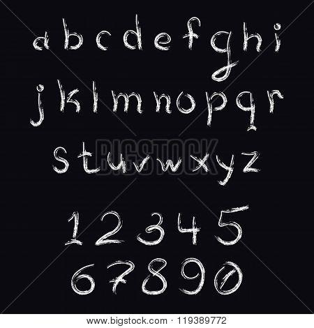 Brush Stroke Lowercase Letters