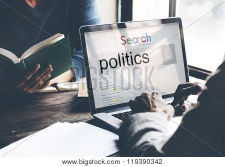 Politics Political Conflict Diplomacy Society Debate Concept