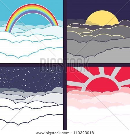 Vector Cloudy Background