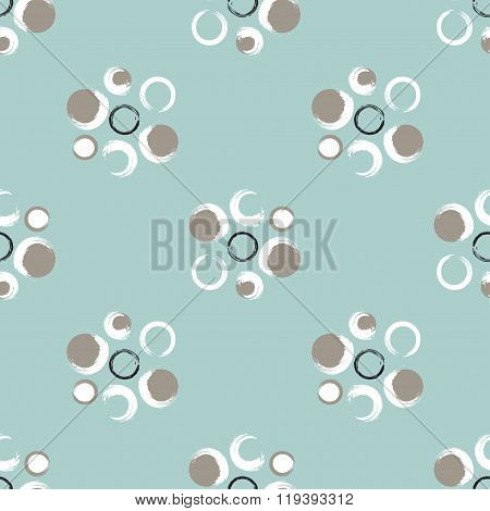 Grunge Circles On A Light Greenish Blue Background