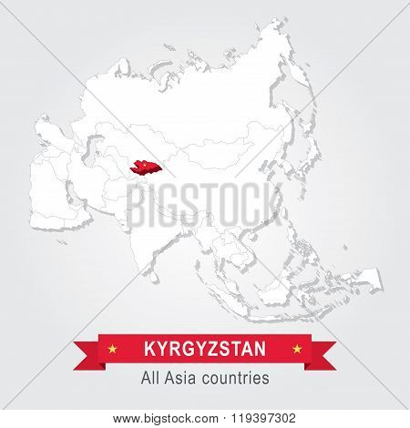 Kyrgyzstan. All the countries of Asia.