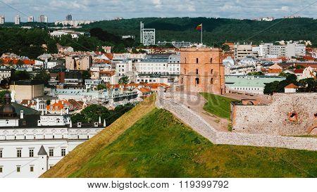 Tower Of Gediminas or Gedimino In Vilnius, Lithuania