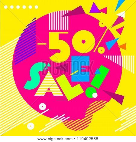 Design template with abstract background - Sale_01