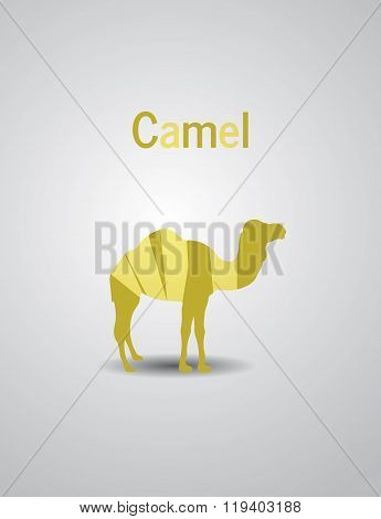 Colored Logo CamelColored Logo Camel animal nomadic landscape