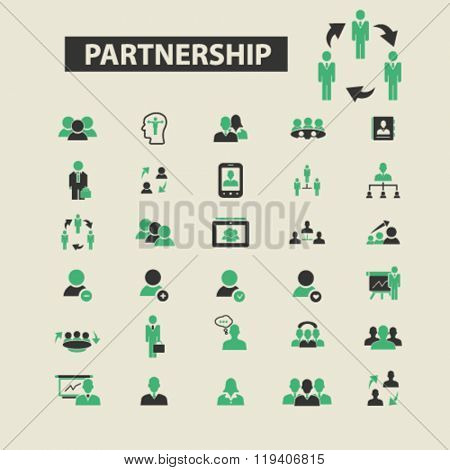 partnership icons, partnership logo, partnership vector, partnership flat illustration concept, partnership infographics, partnership symbols,