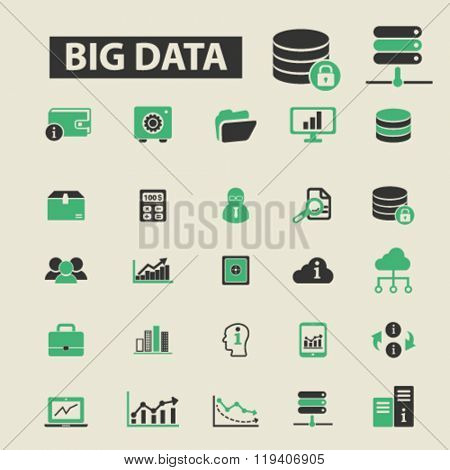 big data icons, big data logo, big data vector, big data flat illustration concept, big data infographics, big data symbols,
