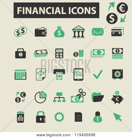 financial icons, financial logo, financial vector, financial flat illustration concept, financial infographics, financial symbols,