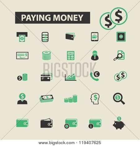 paying money icons, paying money logo, paying money vector, paying money flat illustration concept, paying money infographics, paying money symbols,