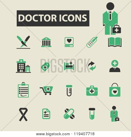 doctor icons, doctor logo, doctor vector, doctor flat illustration concept, doctor infographics, doctor symbols,