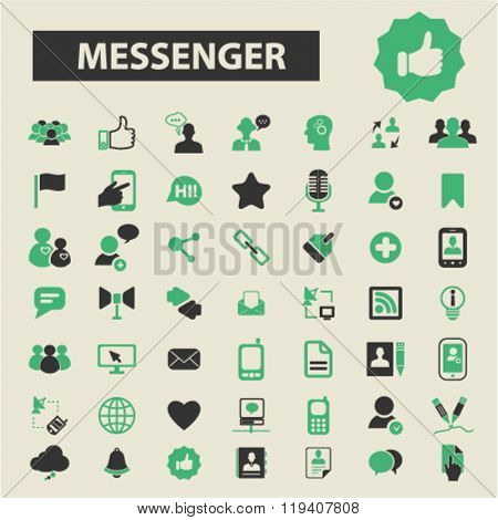 messenger icons, messenger logo, messenger vector, messenger flat illustration concept, messenger infographics, messenger symbols,