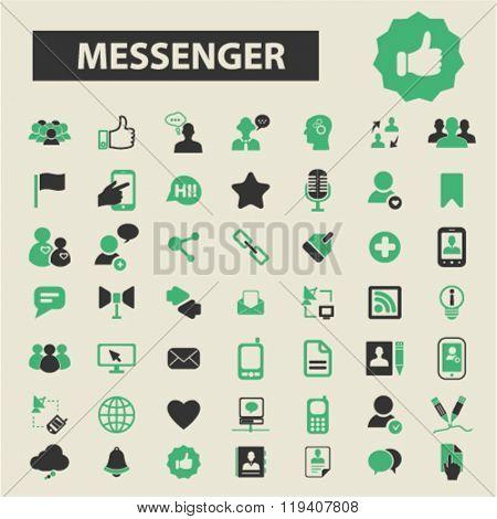 messenger icons, messenger logo, messenger vector, messenger flat illustration concept, messenger infographics, messenger symbols,