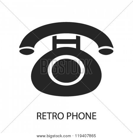 retro phone  icon, retro phone  logo, retro phone  icon vector, retro phone  illustration, retro phone  symbol, retro phone  isolated, retro phone  image, retro phone  drawing, retro phone  concept