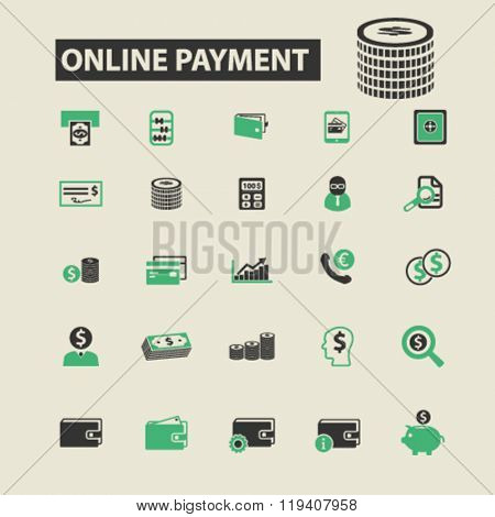online payment icons, online payment logo, online payment vector, online payment flat illustration concept, online payment infographics, online payment symbols,
