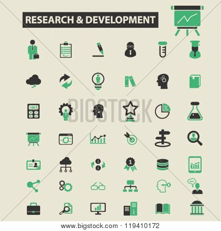 research development icons, research development logo, research development vector, research development flat illustration concept, research development infographics, research development symbols