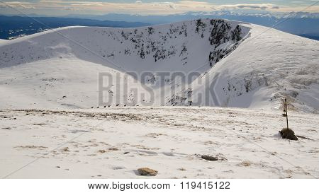 Snow, Winter Mountain In Bulgaria.