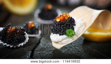 Caviar, Served In Shells