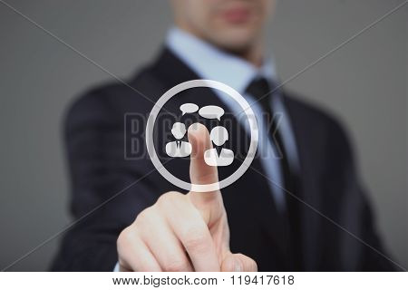 Business button chat web sign