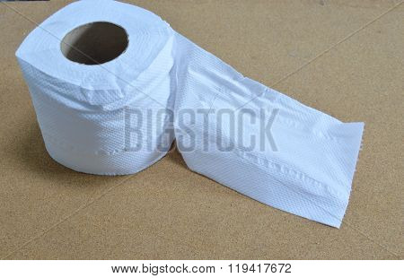 white tissue paper roll on table