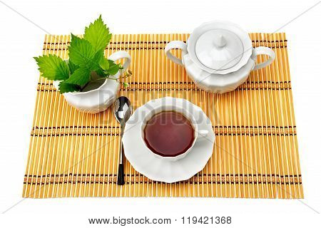Set For Tea Isolated On White Background